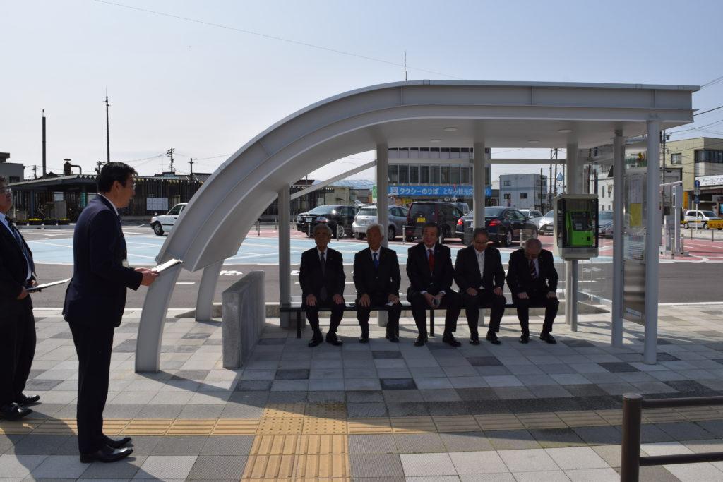 となみセントラルライオンズクラブ CN50周年記念事業『砺波駅前バス停整備』